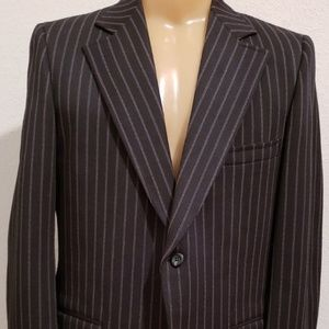 Other - black stripe men's 1970's polyester sport coat 40R
